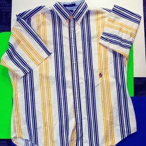 Vintage Short Sleeved Yellow StripedTommy Hilfiger
